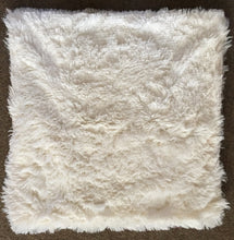 cream fluffy cushion cover