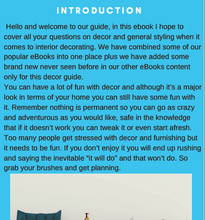 introduction to home decor