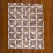Leather Patchwork Rug (two tone)