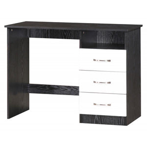marina dressing table white black