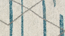 Moroccan duck egg blue rug close up