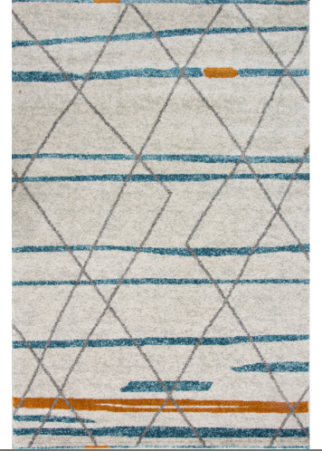 Moroccan duck egg blue rug main image