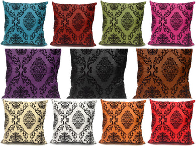 faux silk and velvet flock cushions