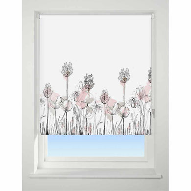 Universal Patterned Roller Blind Floral Border