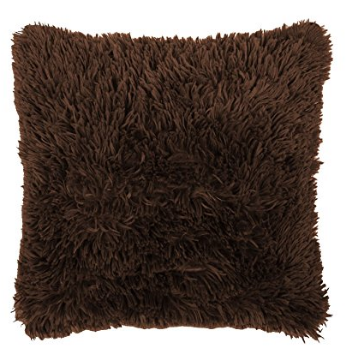fluffy brown cushion front