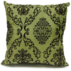 green flock cushion