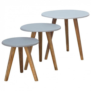 Hand Painted Scandinavian Stool Set