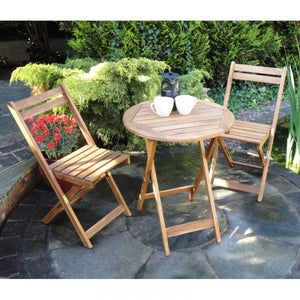 hardwood creta bistro set two seater