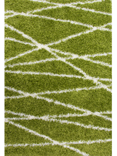 Helsinki Zigzag Shaggy, geometric, green, grey, helsinki, orange, rug, rugs, shag, shaggy, zig zag, uk