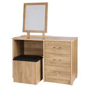 Holland Dressing Table & Storage Stool Set