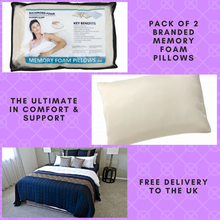 Pack Of Two Memory Foam Pillows