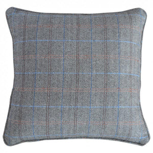 Tweed cushion hand made