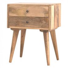 Two Drawer Solid Wood Bedside Table