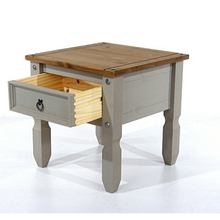grey wooden lamp table dovetail