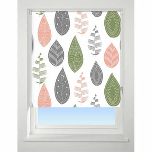 Universal Patterned Blackout Roller Blind Leaf multi