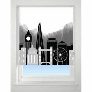 Universal Patterned Roller Blind London Skyline