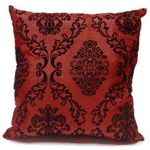 maroon flock cushion