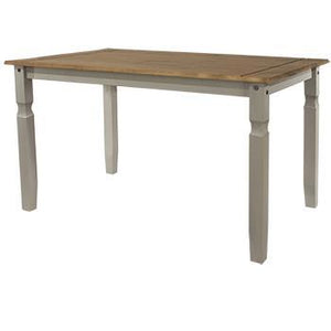 large wooden dining table