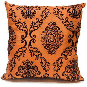 orange flock cushion