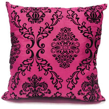 pink flock cushion