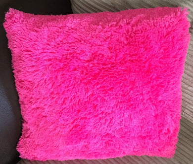 pink fluffy cushion