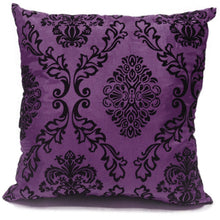 purple flock cushion