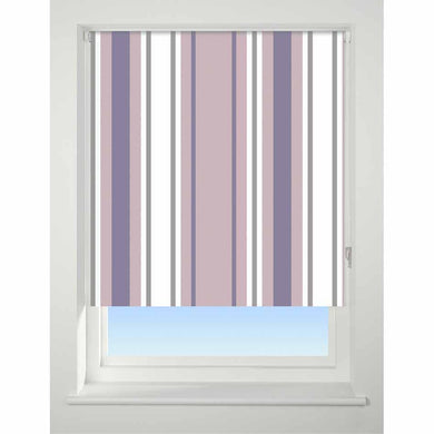 Universal Patterned Blackout Roller Blind Stripe purple