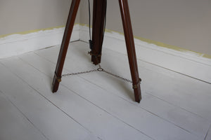 Nautical Searchlight Style Floor Lamp On Extendable Tripod legs