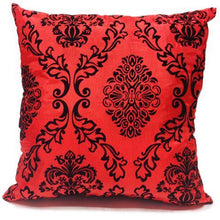 red flock cushion