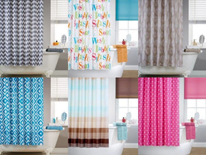 patterned shower curtains