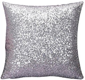 sparkly sequin cushion