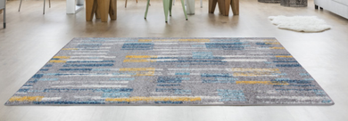 bombay teal and ochre rug
