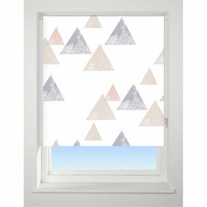 Universal Patterned Roller Blind Textured triangle coral