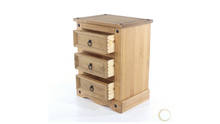 three drawer bedside cabinet dovetail
