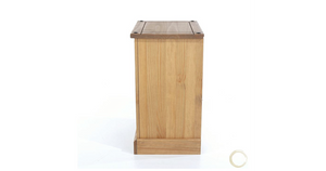 three drawer bedside cabinet side