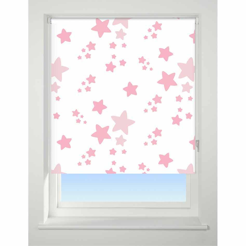 Universal Patterned Roller Blind Twinkle Twinkle pink
