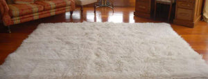 Natural Flokati Rug (Also Avalible As Round Rugs), Flokati, handmade, natural, round rugs, rug, rugs, white, wool, uk