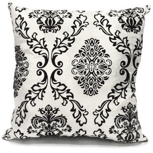 white flock cushion