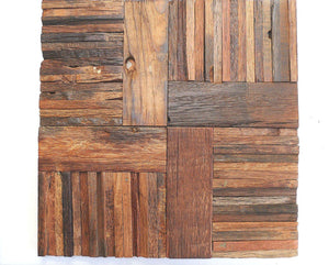 Rustic Wood Mosaic Reclaimed Wall Tiles