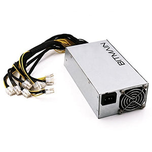AntMiner Power Supply (APW3++ 1200W@110v 1600W@220v w/ 10 Connectors)