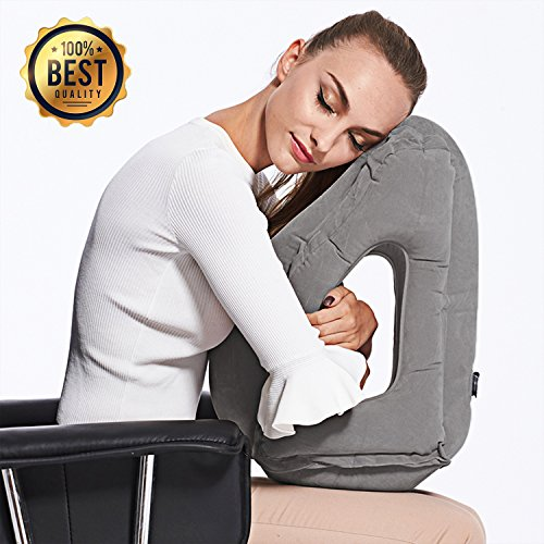 best inflatable travel pillow with neck support and sleep mask