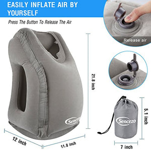 inflatable travel neck pillow best travel ideas for sleeping