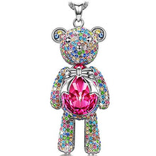 teddy bear pendant necklace gift for her