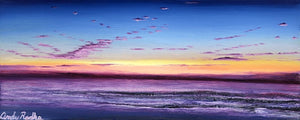 metal prints metal print printed on metal aluminum original art artist andy radke oil paining  Mission Beach San Diego sunset