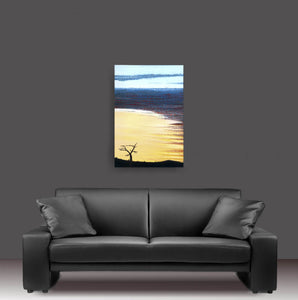 Flagstaff Sunrise Metal Print Original Art Andy Radke