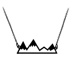 Mountain Top Snowy Mountain Necklace
