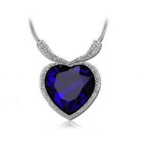 blue heart pendant necklace