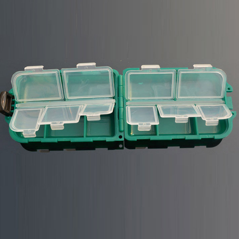 10 Grid fishing tackle box Fishing Gear Box Bait Hook Storage Small Box Hook Box