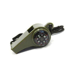 1pc 3 in1 Outdoor Camping Hiking Emergency Whistle with Compass Thermometer
