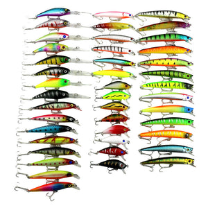 43pc/set Fishing Lure Set Mixed 6 Models Fishing Tackle Mix Fishing Bait